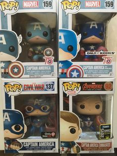 (4) FUNKO POP! Collection of  - MARVEL CAPTAIN AMERICA INC 2015 Convention Exclu  | eBay