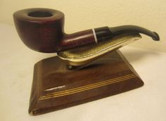 Vintage 90's Kaywoodie Saxon Bent Pot Briar Estate Tobacco Smoking Pipe Unsmoked