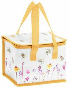 BUSY BEE FLORAL Flowers Bees Cool Bag MINI Lunch Bag Lunchbox Cooler SMALL 5055071708954   eBay Bee Fabric, Insulated Lunch Bags, Brewing Tea, Busy Bee, Little Bag, Floral Flowers, Diaper Bag, Lunch Box, Deer Shooting