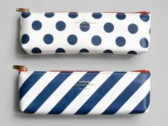 Present&Correct - Spot Stripe Pencil Case
