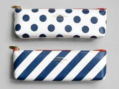 Present&Correct - Spot Stripe Pencil Case