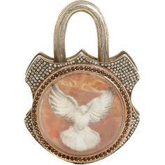 Sevan Bicakci Diamond & Quartz Dove Extra-Large Padlock at Barneys.com