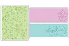 Sizzix Textured Impressions Embossing Folders - Birthday Set 3