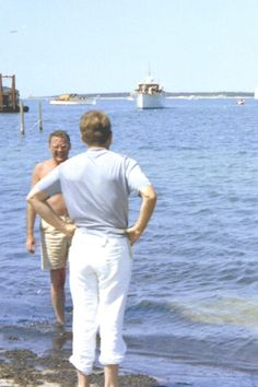 JFK in Hyannis Port during the summer of 1963.