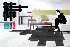 Tisserand - Evolutive and modular carpet  by Maxime Lapouille // © Maxime Lapouille