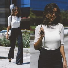 Get this look: http://lb.nu/look/7750946  More looks by Stephanie Liu: http://lb.nu/honeynsilk  Items in this look:  H&M Top, H&M Pants, The Row Sunglasses   #chic #elegant #minimal