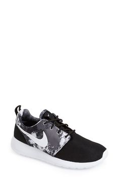 Free shipping and returns on Nike 'Roshe Run' Print Sneaker (Women) at Nordstrom.com. A versatile, everyday sneaker in an eye-catching print is enhanced with a Solarsoft sock liner for an extra-comfy fit.