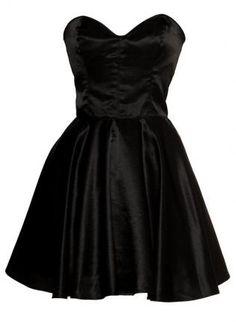 Vintage Inspired Silk 50s Style Little Black Dress,  Dress, Black dress party dress prom dress, Chic
