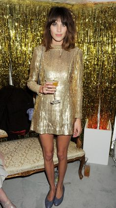 Alexa Chung attends an after party following the ELLE Style Awards at The Savoy Hotel on February 13, 2012 in London, England