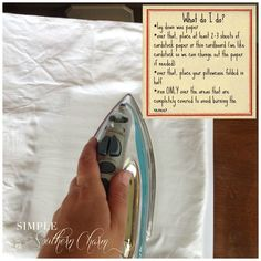 How to reattach bubbled veneer.  This is a brilliant tutorial.  Easy peasy! ss3