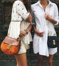 Matching Chloé bags: best friend goals