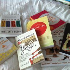 Went a little crazy on the yoga literature!  #yoga #yogaeverydamnday #scienceofyoga #yogi #meditation #Padgram