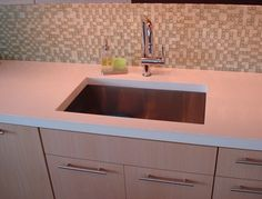 Kitchen Sink, Square Sink, Faucet  Floor Logos and More  Evolution Architectural Concrete  Essex, CT