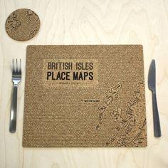 British Isles Cork Placemats