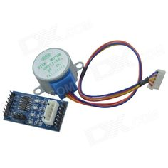 DMDG ULN2003 Stepper Motor Driver Module + 5V 28BYJ-48 Stepper Motor for Arduino. Motor Features: Diameter: 28mm - Voltage: 5V - No-load pull into the frequency: >600Hz - Phase: 4 - No-load pull-out frequency: >1000Hz - Reduction ratio: 1/64 - Pull-in torque: >34.3mN.m (120Hz) - Step Angle: 5.625 x 1/64 - Self-positioning torque: >34.3mN.m - DCR: 200ohm +/- 7% (25'C) - Temperature: <40K (120Hz) - Insulation resistance: >10Mohm (500V) - Noise: <40dB (120Hz, No load, 10cm) - Dielectric…