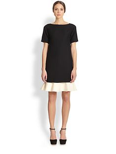 Valentino - Voulant-Hem Dress - Saks.com