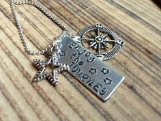 Enjoy the Journey / Hand Stamped Necklace by BrandedBlessings on Etsy