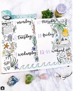 25 Incredible tropical bullet journal spreads to inspire your next vacation (and my Hawaii stationery haul!) | My Inner Creative