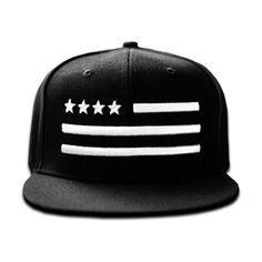 4 STAR FLAG Snapback ❤ liked on Polyvore featuring accessories, hats, snap back hats, star hat, flat bill snapback, snapback hats and flat bill hats