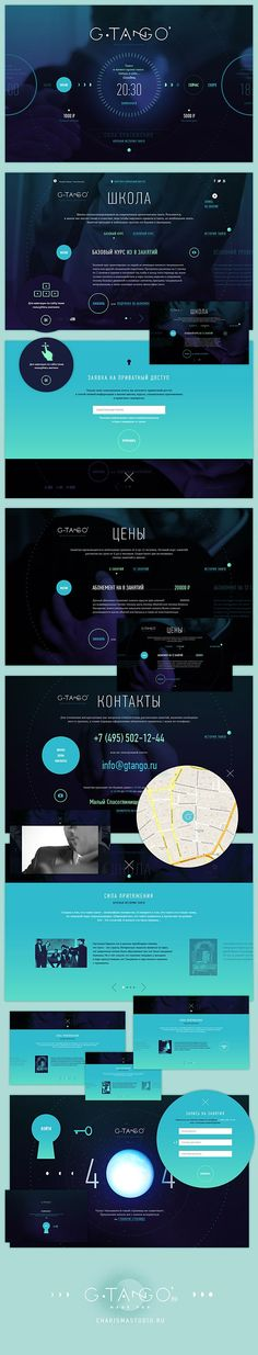 T A N G O by Sasha Firs, via Behance | Webdesign