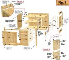 Build Kitchen Cabinets Free Plans Shorter Than The Learn Step By Step How  To Build Cabinets For Your Kitchen Http Teds Woodworking O Cabinet Plans How  To ...