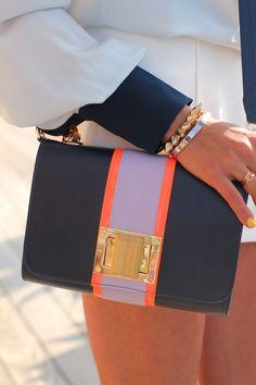 color blocked bag