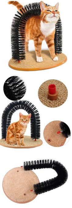 Cat Self-Groomer Arch Plastic Bristles Kitten Massager Scratcher Carpet Pet Toy - bucksworthy - Homemade Cat Toys, Diy Cat Toys, Toys For Cats, Gifts For Cats, Cool Cat Toys, Cool Cats, Diy Jouet Pour Chat, Ideal Toys, Cat Room