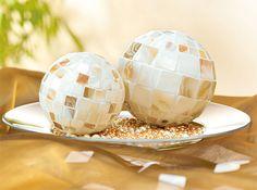 Mosaïque sur boules en polystyrène