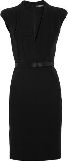 Alexander Mcqueen Crepe WrapEffect Dress in Black - Lyst