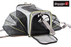 Expandable Airline Approved Pet Travel Carrier For Small Dogs Cats By Generation 5 Pets Steel Construction That Prevents Collapsing Comfortable Carrying Handles Spacious 2 Side Expansion ** Click image for more details.