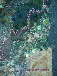 New Embroidery Art Abstract Textile Artists 51 Ideas Art Fibres Textiles, Textile Fiber Art, Textile Artists, Beaded Embroidery, Embroidery Stitches, Hand Embroidery, Machine Embroidery, Creation Art, Crazy Patchwork