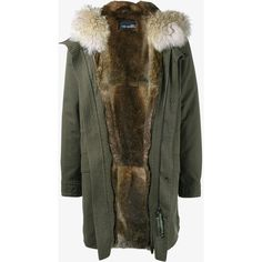 YVES SALOMON Rabbit Fur-Lined Parka with Coyote Fur Hood Trim (£2,050) ❤ liked on Polyvore featuring men's fashion, men's clothing, men's outerwear, men's coats, mens leather coats, mens hooded leather coat, mens parka coats and mens hooded coats