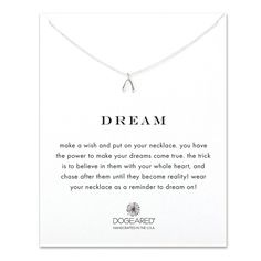 Dogeared Dream Reminder 925 Sterling Silver Necklace of Length 40.64 cm…