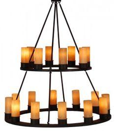 Canella 2-Tier light fixture from Woodland Furniture. Lighting We Love at Design Connection, Inc.  Kansas City Interior Design http://www.DesignConnectionInc.com