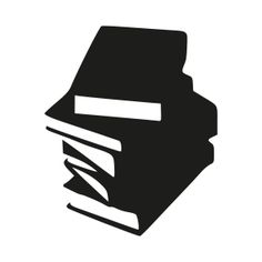 Stack of Books by @Gail Armstrong, black and white, books, bw, clip art, clipart, library, okf, paper, reading, silhouette, staple,