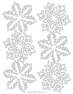 free printable snowflake templates ? large & small stencil patterns - Christmas Snowflake Coloring Pages
