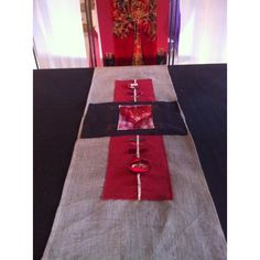 """Exclusively for our store :""""BIA GRA GRA DON CHRAIC""""- LOVE FOOD, LOVE THE CRAIC. HANDPAINTED TABLE RUNNER.CREATED BY LORSHA...38X140CM APPROX. Beautiful Gifts, Tree Skirts, Love Food, Christmas Tree, Hand Painted, Store, Holiday Decor, Table, Home Decor"""