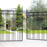 Stylish wrought iron driveway gates