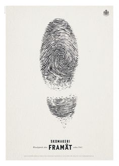 Skomakeri Framåt Fingerprint Ad #Advertising #Shoes #Fingerprint