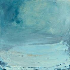 'Lost at Sea, Happy' Oil on canvas, 40cm sq. AVAILABLE 💙🌊 Irish Landscape, Contemporary Landscape, Song List, Short Film, Landscape Paintings, Oil On Canvas, The Balm, Lost, Sea
