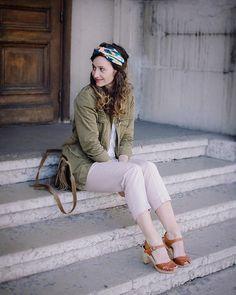 Saharienne cloutée ✔️ Un nouveau look est en ligne sur le blog 🔛saucemode.com (lien dans ma bio)  Bonne soirée 😘 . #outfit #outfitpost #blogpost #blogger #blogolyon #blogueusemode #blogueuselyonnaise #blog #fblogger #look #fashion #fashionpost #saucemode #blogmode #blogmodelyon