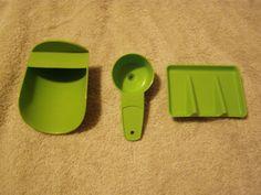 Collectible Tupperware Lot of 3 Gadgets (Rocker Scoop, Mini Funnel, Soap Dish). | eBay - $12.99