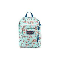 JanSport Big Student Backpack Multi Painted Ditzy ($46) ❤ liked on Polyvore featuring bags, backpacks, multi painted ditzy, green backpack, jansport bags, pattern bag, backpacks bags and jansport backpack