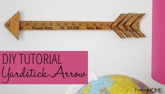 DIY Vintage Yardstick Arrow