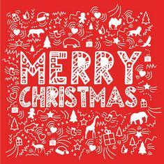 Merry Christmas greeting card for Kinky Rhino Greeting Cards in South Africa #greetingcard #southafricancard #southafrica #card #christmas #xmas #animalinspired #animals #south #africa #wildlife
