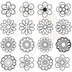 16 clip art of floral design elements
