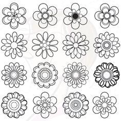 16 clip art of floral design elements