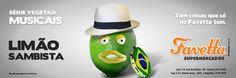 Favetta Supermercados - Série Vegetais Musicais: Limão Sambista