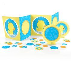 Two Dozen (24) Blue BOY Mini Rubber Ducky Duck Baby Shower Birthday Party Favors