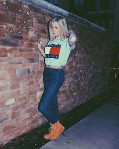 Tommy Hilfiger and Timberlands, perfect combination!